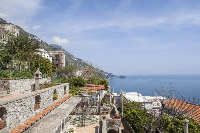 villa sea view at 200 mt  from the beach - parking - Image 1 - Praiano - rentals