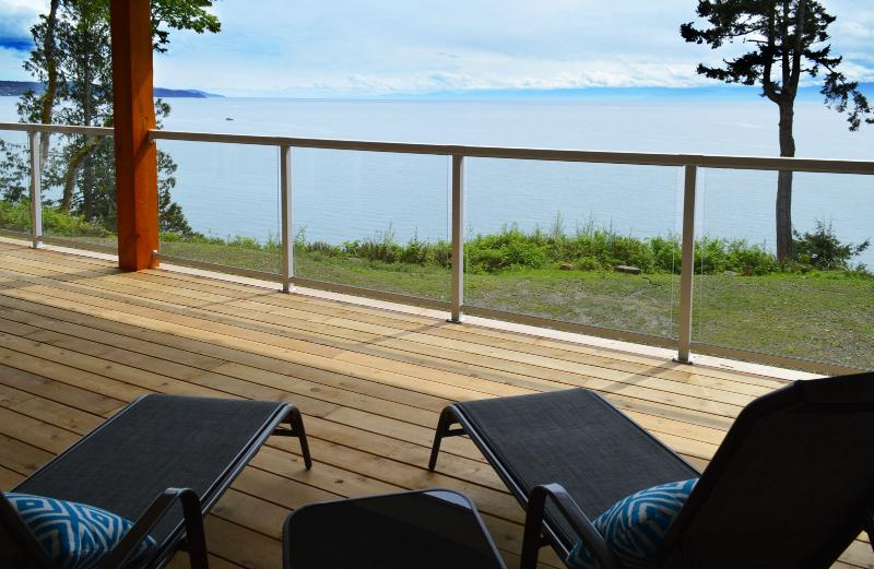 View from the deck - Sheringham Point Oceanfront Suite - Sooke - rentals