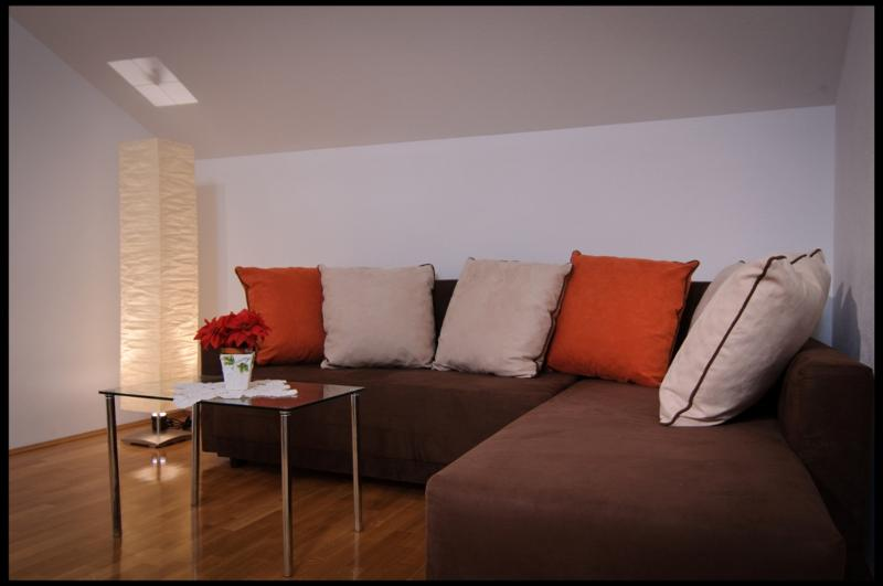 Modern and new living room with sofa bed - Villa by the sea in peaceful area - Kastel Stafilic - rentals