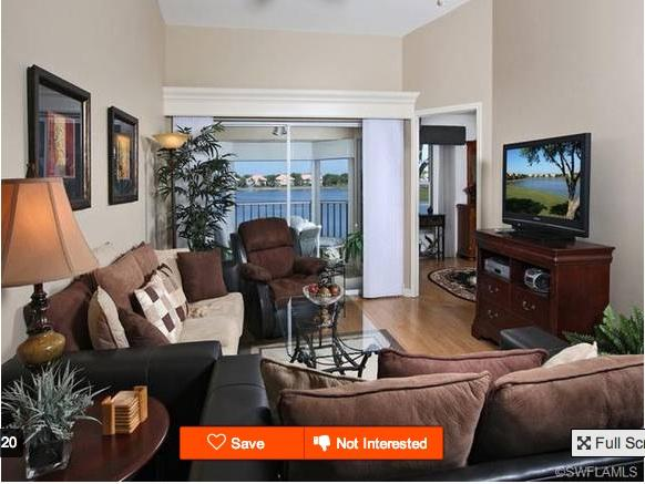 Living room and golf course view - Great Golf -- Beaches Nearby - Bonita Springs - rentals
