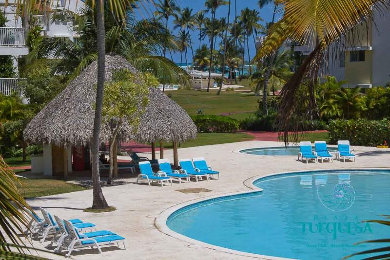 First Pool - PLAYA TURQUESA A-101 - 2 br in ocean front complex - Bavaro - rentals