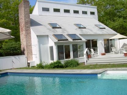 pool view - East Hampton Northwest, Walk To Water, 4 Br W/htd, Pool Cac, Designer Furnishings, 6000 week - East Hampton - rentals