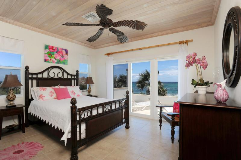 Bedroom suite #1 with deck and beach/ocean views. - Private Beachfront Estate w/Pool, home theatre - Eleuthera - rentals