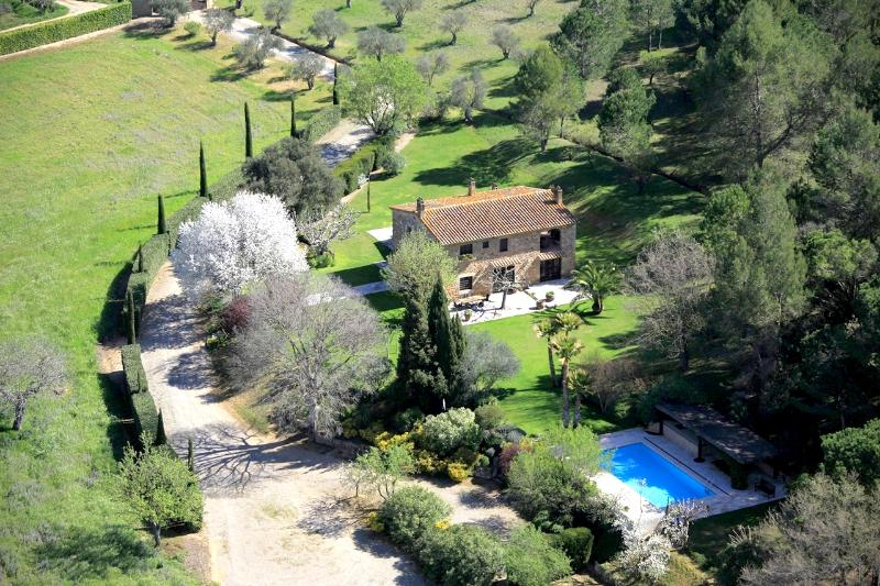 Ariel View of the Masia - Unique Luxury Masia, with views of Empordá Castle - Vulpellac - rentals