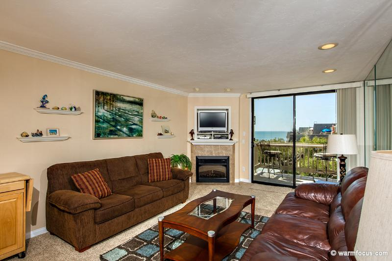 Straight-on ocean views from your living room! - Dolphin's Cove~Top Floor West-Facing Ocean View! - Oceanside - rentals