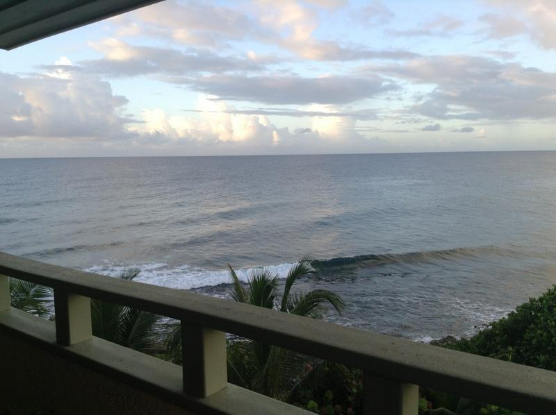 Ocean view from balcony - Fully Remodeled Ocean-Front Condo - Saint Thomas - rentals