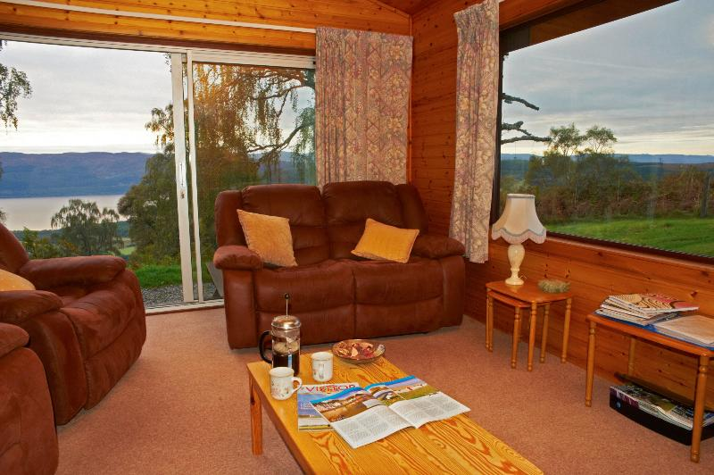 Lodge 5 Living Room looking out on Loch Ness - Superior Lodge No 5 - Drumnadrochit & Loch Ness. - Drumnadrochit - rentals