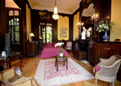 Bedroom on lower level - Exquisite 2 BR Paris Vacation Rental - Paris - rentals
