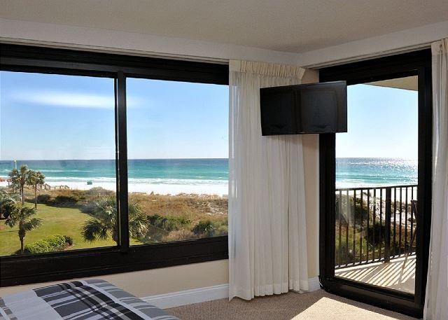 Panoramic View of the beach from the Master Bedroom - Summer Weekly Rate Just Reduced!  Free Shuttle Service!! - Sandestin - rentals