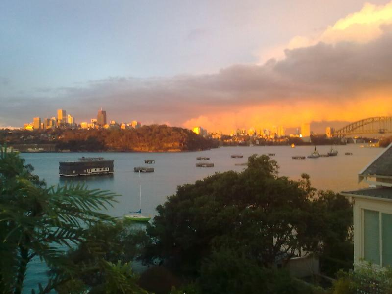 View from terrace - Waterfront Luxury 3 bedroom Apartment - Sydney - rentals