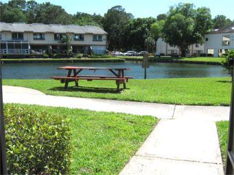 View from your front door at J-5 vacation condo in Paradise Lakes Resort - Paradise Lakes (Clothing Optional): J-5 (ADULTS ON - Tampa - rentals