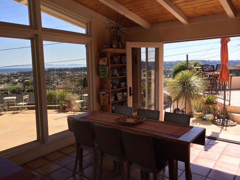 Dining Room - Ocean View Riviera Home Multiple Ocean View Decks - Santa Barbara - rentals