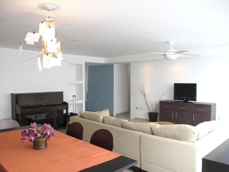 Spacious and open living room and dining area. - Entire beach family apartment in heart of Condado. - San Juan - rentals