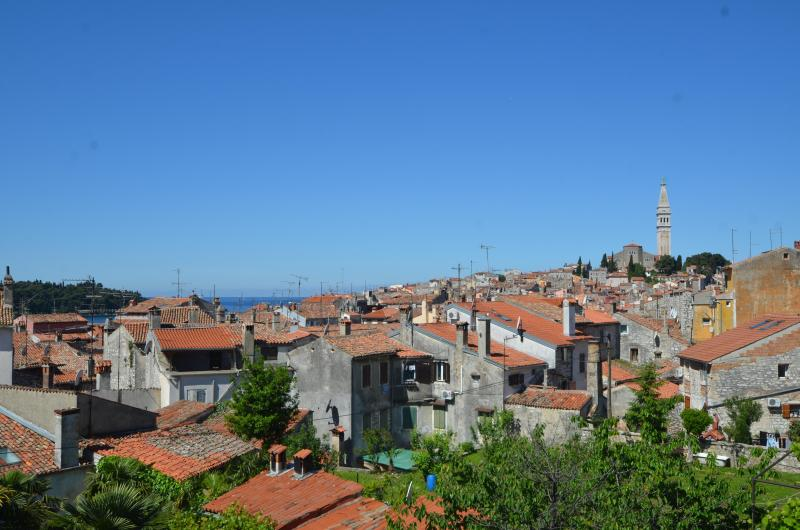 Panorama view - sea and old town - Sea view apartment in Rovinj center with balcony - Rovinj - rentals
