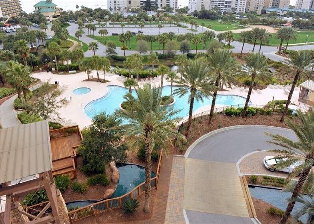 View from window of the Luau pool - Beautiful condo! Great for 2 couples with 2 king beds! Free Shuttle! - Sandestin - rentals
