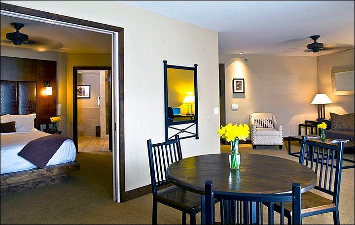 Suite Features a King Bed in the Bedroom and a Separate Sitting Room (Representative Unit) - Spacious & Beautiful Suite - Dog-Friendly Establishment (6685) - Telluride - rentals
