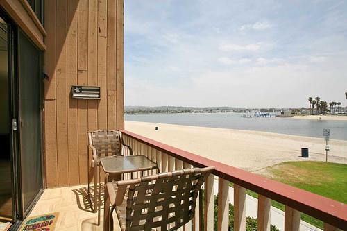 Balcony view - Mission Bay Beachouse Condo - Pacific Beach - rentals