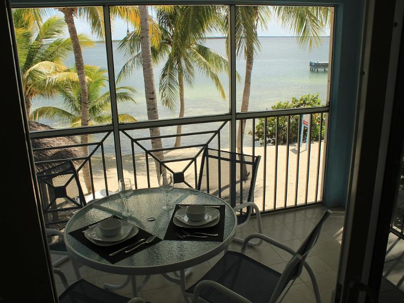 Have a relaxing dinner Al Fresco! - Fully Renovated 1 BR Beachfront Condo at Kaibo - Grand Cayman - rentals