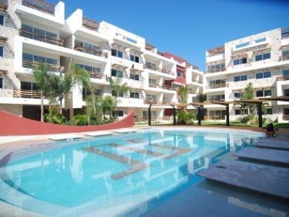 Pool sun loungers - Luxury Sabbia Condo B202, Playa Del Carmen, MEXICO - Riviera Maya - rentals