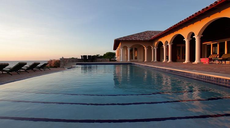 The Infinity Pool...and beyond it the Caribbean - Secluded Oceanfront Villa  in Westpunt, Curacao - Westpunt - rentals