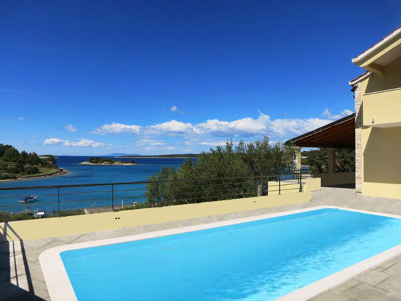 A great new family villa with magnificent sea view - Image 1 - Vela Luka - rentals