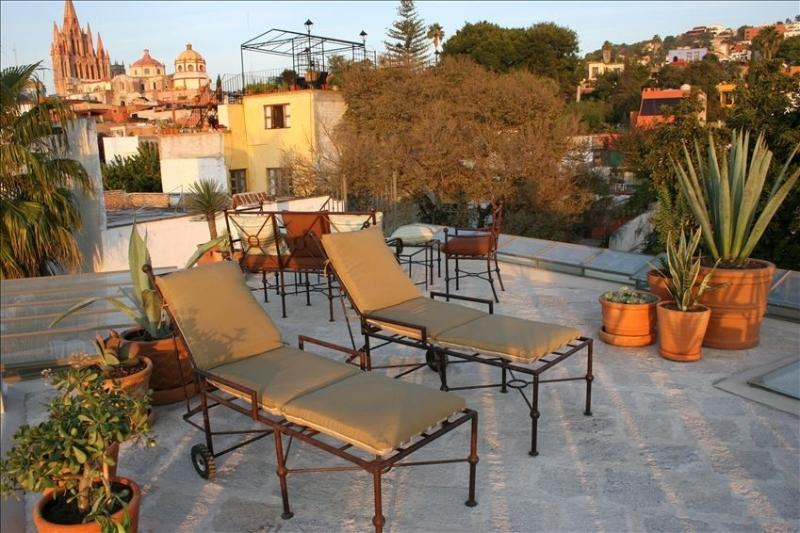 Rooftop with panoramic views - Panoramic 4th Floor Views with Upscale Living in El Centro - San Miguel de Allende - rentals
