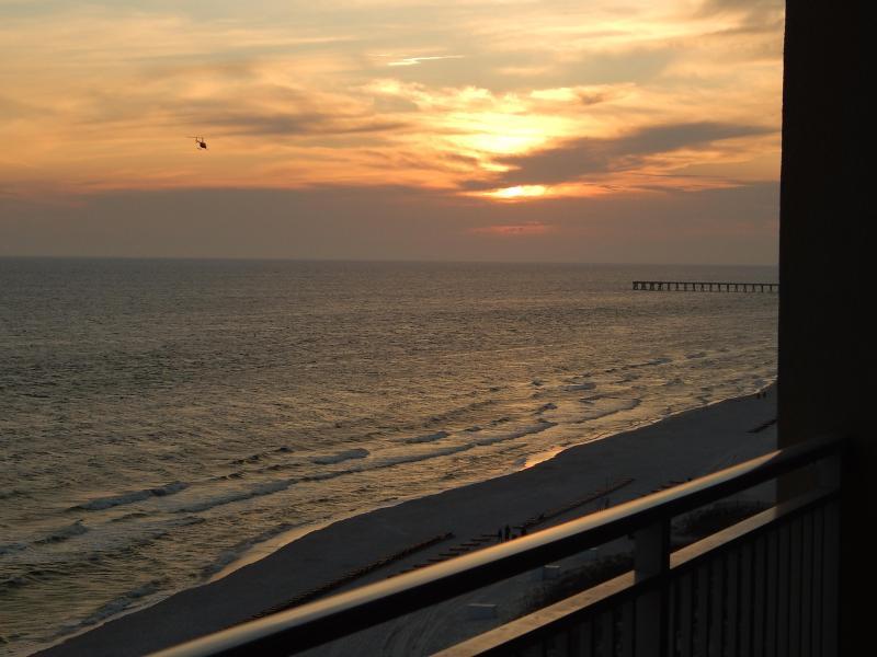 Sunset from Balcony - 5 Star Luxury 1 Bedroom at Emerald Beach - Panama City Beach - rentals