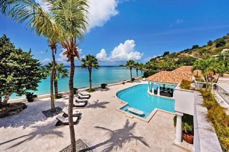 Contemporary Waterfront Villa on White Sandy Beach - Petite Plage 5 - Image 1 - Grand Case - rentals