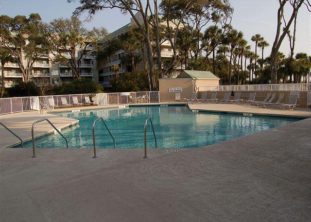 Pool and Deck - 312 Barrington Court - Beautiful 3rd Floor Oceanfront Villa! - Hilton Head - rentals