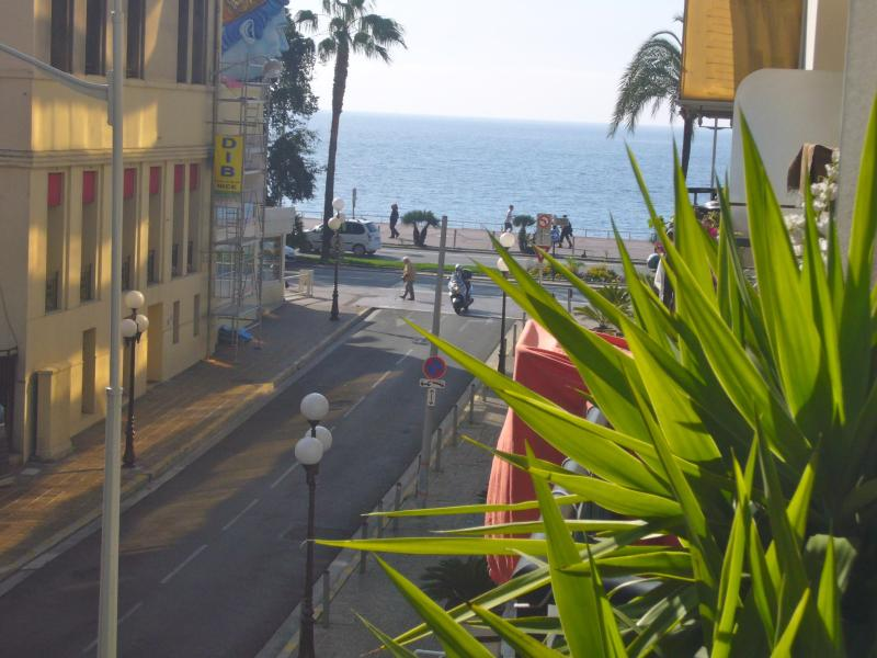 View to the Promenade Des Anglais and beach from the apartment terrace - Nice holiday rental apartment in the Cote d'Azur - Nice - rentals