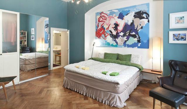 Master bedroom - Breathtaking Showstopper Apartment, 1st district - Vienna - rentals