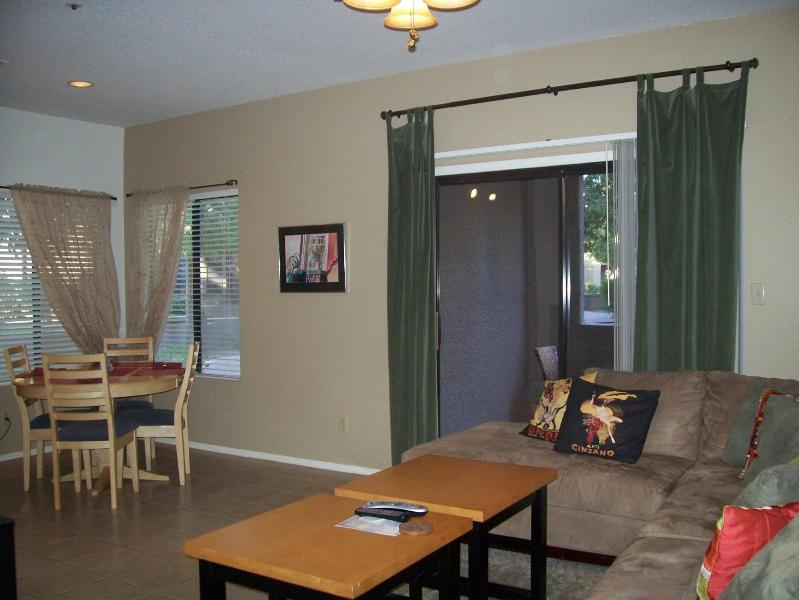 Living room view - 1st Floor,1 bdrm,  private condo Great summer rate! - Scottsdale - rentals