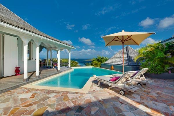Enjoy ocean views from this Petit Cul de Sac villa in Domaine du Levant. WV LAB - Image 1 - Saint Barthelemy - rentals