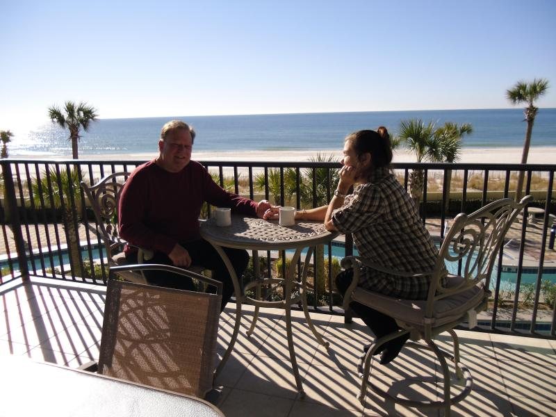 Balcony - 3 br beautifully furnished condo w/Slide & /Lazy River - Orange Beach - rentals