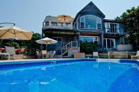 SANDY POINT: LAGOON WATERFRONT HOME WITH POOL - OB JKRI-20 - Image 1 - Oak Bluffs - rentals