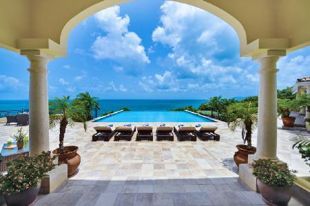Amber - Enchanting retreat with seaside pool, breathtaking vistas& wraparound terrace - Image 1 - Terres Basses - rentals