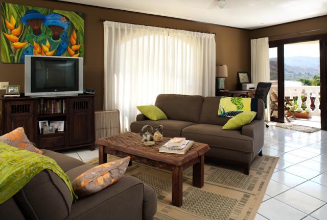 Comfortable living area with ocean views - Flamingo Marina Real condo 221 - Playa Flamingo - rentals