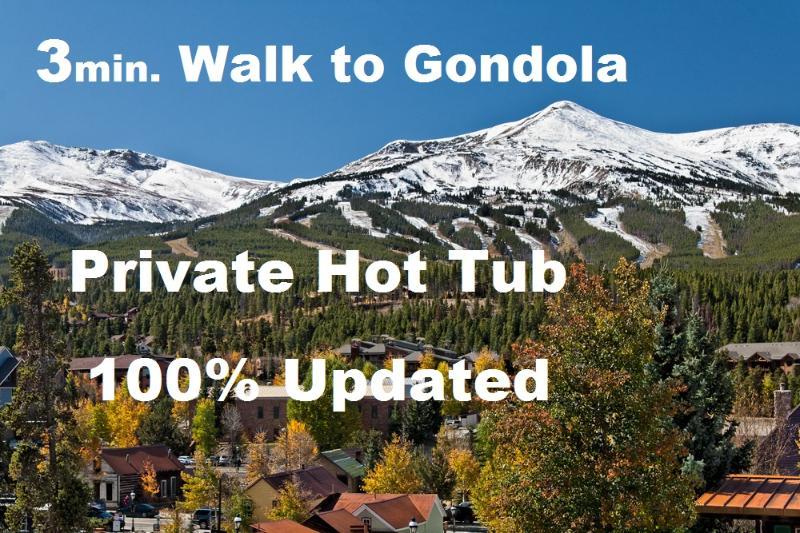 Contemporary, Right in town. Private HotTub, View! - Image 1 - Breckenridge - rentals