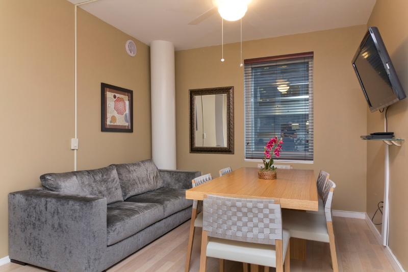 Living Room (with no sleep sofa) and Dining Area - Sleeps 8! 4 Bed/2.5 Bath Apartment, Times Square, Awesome! (8215) - New York City - rentals