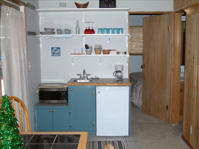 Kitchenette has microwave, coffee pot, toaster - Rockfish Cottage - Sitka - rentals