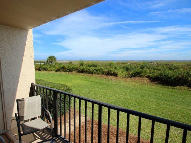 Balcony and view - Island Club, 2102 - Hilton Head - rentals