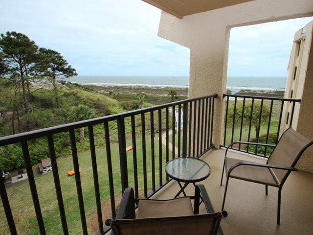 View from balcony - Island Club, 1401 - Hilton Head - rentals