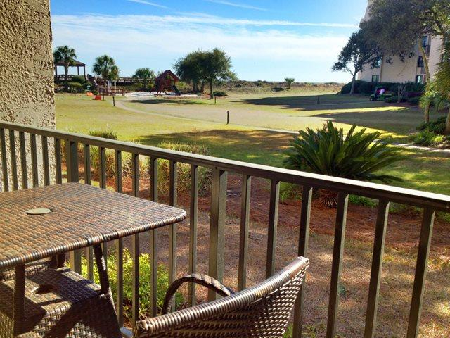 View from deck - Island Club, 3105 - Hilton Head - rentals