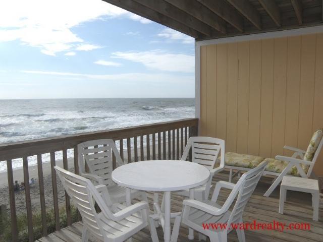 Balcony overlooking ocean - Anderson - Surf City - rentals
