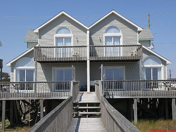 Oceanfront Exterior - Dolphin Watch N - North Topsail Beach - rentals