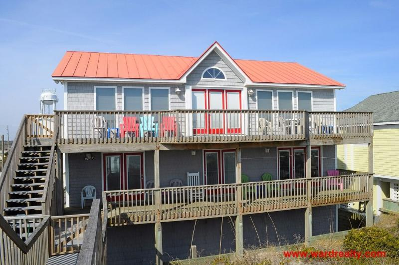 Oceanfront Exterior - Double U Seas - Surf City - rentals
