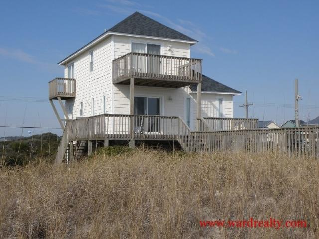 Oceanfront Exterior - Fair Winds - Surf City - rentals