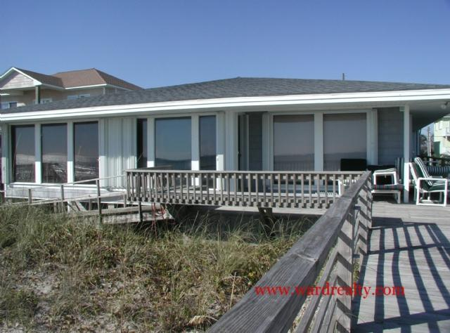 Oceanfront Exterior - Gull Friend - Surf City - rentals