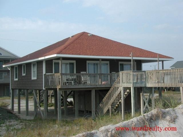 Oceanfront Exterior - Jones' Home Port - Topsail Beach - rentals