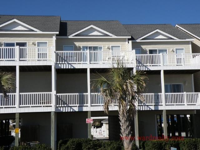 Oceanfront Exterior - Sea Star - Beachnuts - Surf City - rentals